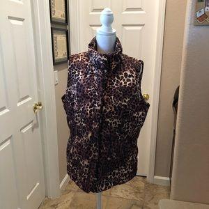 Charter Club Leopard print vest